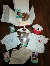 RETIRED Kit's Reds Fan Outfit American Girl Doll Baseball Mitt Jersey CINCINNATI