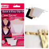3 Pack Cami Clip On Mock Camisole Modesty Parody Lace Panel METAL BUTTON-Quality