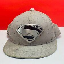 Superman Hat cap man steel limited edition metal emblem dc comics zod silver dot