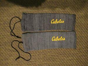 2 Allen Cabelas Pistol Handgun Sock Cases Sleeves w Drawstring Made in USA