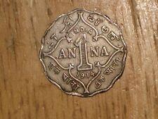 British India 1914 Anna coin George V nice