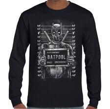 Batpool Mugshot - Hombres Camiseta Divertida Batman Deadpool Parodia Combinación