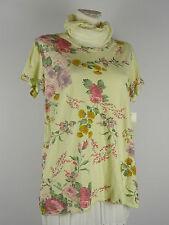 Shirt Tunika Blumen Lagenlook Patchwork Größe 38 - 42 one size gelb bunt Tuch w