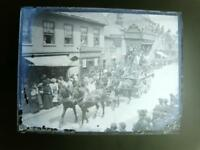 Glass Plate Negative Circus Parade  Beverley Wednesday Market  4.25x3.25 inch