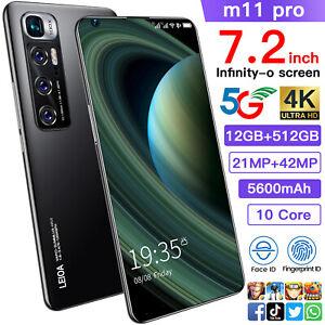 Global Version Mobile Smartphone M11 Pro 7.2 Inch 12GB+512GB 21MP+42MP 4G 5G