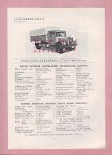 NÜRNBERG Typentafel 1934, Faun-Werke Lastkraftwagen LKW L450D L560D