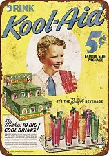 "7"" x 10"" Metal Sign - 1943 Kool-Aid - Vintage Look Reproduction"