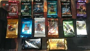 MTG- booster pack - new and sealed - core zendikar masters ikoria spark ravnica