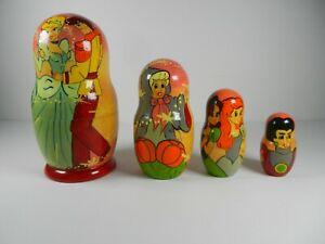 Disney Cinderella Nesting Dolls Vintage Wooden Toys INCOMPLETE
