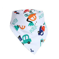3 PCS Baby Girls Boys Bandana Bibs Triangle Head Scarf Saliva Towel Dribble