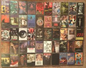 90s Grunge/Alternative/Metal Cassette tape lot of 50 Nirvana STP Danzig