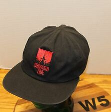 VINTAGE CRIMSON TIDE MOVIE HAT BLACK/RED REVERSIBLE OSFM IN GOOD CONDITION