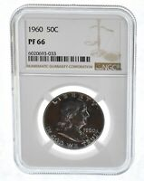 PF66 - 1960 Franklin 90% Silver Half Dollar - NGC From US Mint Set
