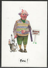 COMIC GOLF POSTCARD by David Cuppleditch FORE