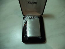 ZIPPO LIGHTER FEUERZEUG IN ARGENTO STERLING MOD ZIP 27 ARMOR CASE BRUSHED NEW