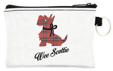 Scottish Tartan Scottie Dog Travel Keyring Small Card Coin Zipped Purse