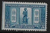 US Scott #619, Single 1925 Minute Man 5c FVF MNH