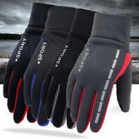Mens Winter Waterproof Windproof Fleece Lined Thermal Touch Screen Gloves US
