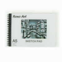 2 X Sketch Book Pad A5 30 Sheet 140 gsm Drawing Painting Art Craft Reno Art