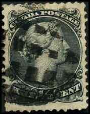 Canada #21 used VF 1868 Queen Victoria 1/2c black Large Queen Fancy Cork cancel