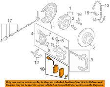VW VOLKSWAGEN OEM 09-15 CC Brake-Rear Pads 3C0698451C