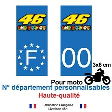 Stickers autocollant plaque d'immatriculation MOTO 46 the Doctor Valentino Rossi