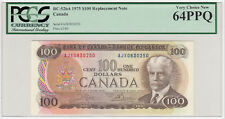 1975 Bank of Canada $100 Replacement Note - PCGS Very Choice 64 PPQ