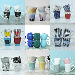 New Fine China Porcelain Tea Coffee Mug Set Espresso Cups Cocoa Hot Drinks Cup