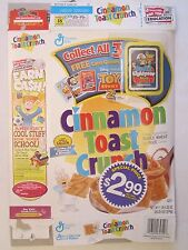 CINNAMON TOAST CRUNCH  Cereal Box 2000 TOY STORY 2 Card Game BUZZ LIGHTYEAR