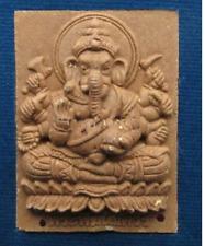 Ganesh Brown Powder Kruba Krissana Thai Amulet Charm Magic Business Luck Takrud
