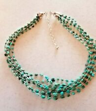 Jay King Sterling Silver 7-strand Turquoise Beaded Necklace - NWOT