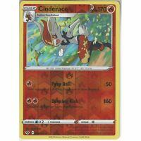 035/202 Cinderace | Rare Reverse Holo Card Pokemon TCG Sword & Shield (Base Set)