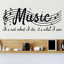 DIY Wall Decal Sticker Removable Music Notes Room Home Decor Art Vinyl US STOCK