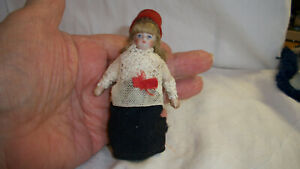 "BEAUTIFUL SMALL 4"" DOLL HOUSE DOLL ALL ORIGINAL BEAUTIFUL HAIR AND CLOTHES"