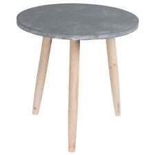 Kleiner Holz Tisch Beistelltisch Stein-Optik Coffee Table Ø 45 cm NEU