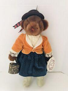 "18"" Vtg 1983 Victorian MOLLY Girl Teddy Bear Plush Gund Playthings Past #8120"