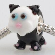 Bonito Gato Negro encanto grano para joyería Europea
