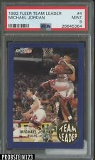 1992-93 Fleer Team Leader #4 Michael Jordan Chicago Bulls HOF PSA 9 MINT