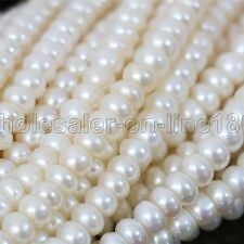 4x5mm natural white freshwater coin Spacer pearl gem loose beads strand 15''