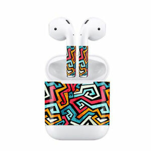 Protective Wrap Vinyl Cover Sticker Skin Decal 4# for AirPods Wireless Headset J