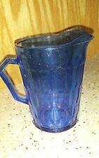 Cobalt Blue Hexagonal Creamer Depression Glass