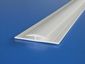 Joining Strip for White PVC Hygienic Wall Cladding 2440mm Joint 8ft H Section