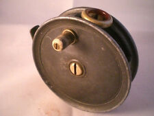A  VINTAGE PATTERN 1 TROUT FLY REEL FOR ALEX MARTIN + RED AGATE