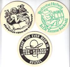 drei Bierdeckel, Dommelsch Bier, Niederlande, verschiedene Gaststätten, um 2000