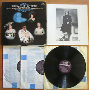 SET 545-7 Tales Of Hoffmann SIGNED by Joan Sutherland & Placido Domingo Decca