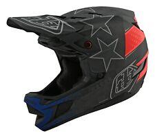 Troy Lee Designs D4 Carbon Mips Freedom 2.0 Helmet Black/Red BMX/MTB/Bicycle
