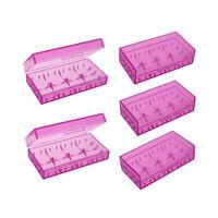 1pc Akkubox Batterien box Aufbewahrungsbox 18650 16340 CR123A Plastik Rot