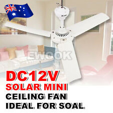 OZ J 12V Ceiling Fan 3 Blades Ideal For Solar Power Outdoor Portable Caravans