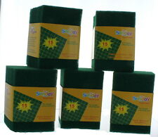"""Lot of 75 Green Scrub Scour Pads 5 3/4"""" x 4"""" General Purpose Household Cleaning"""
