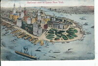 CI-436 NY, New York City, Bird's Eye View of Lower, Divided Back Postcard